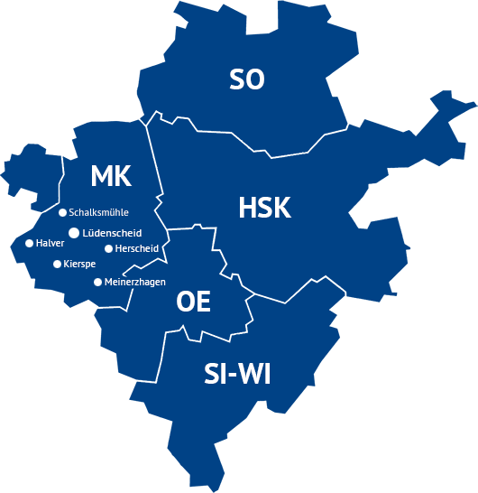 Karte Südwestfalen