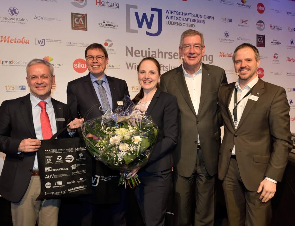 Wirtschaftsjunioren Lüdenscheid richten Neujahrsempfang des Landesverbands aus