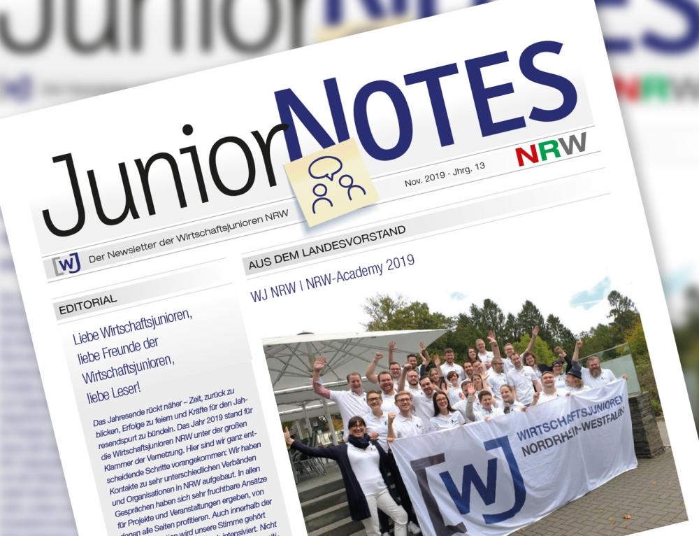 Die neue Ausgabe der WJ NRW JuniorNOTES ist erschienen!